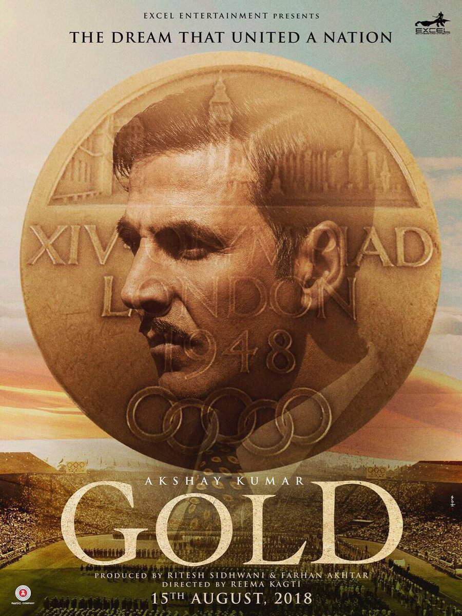 Gold Poster starring Akshay Kumar