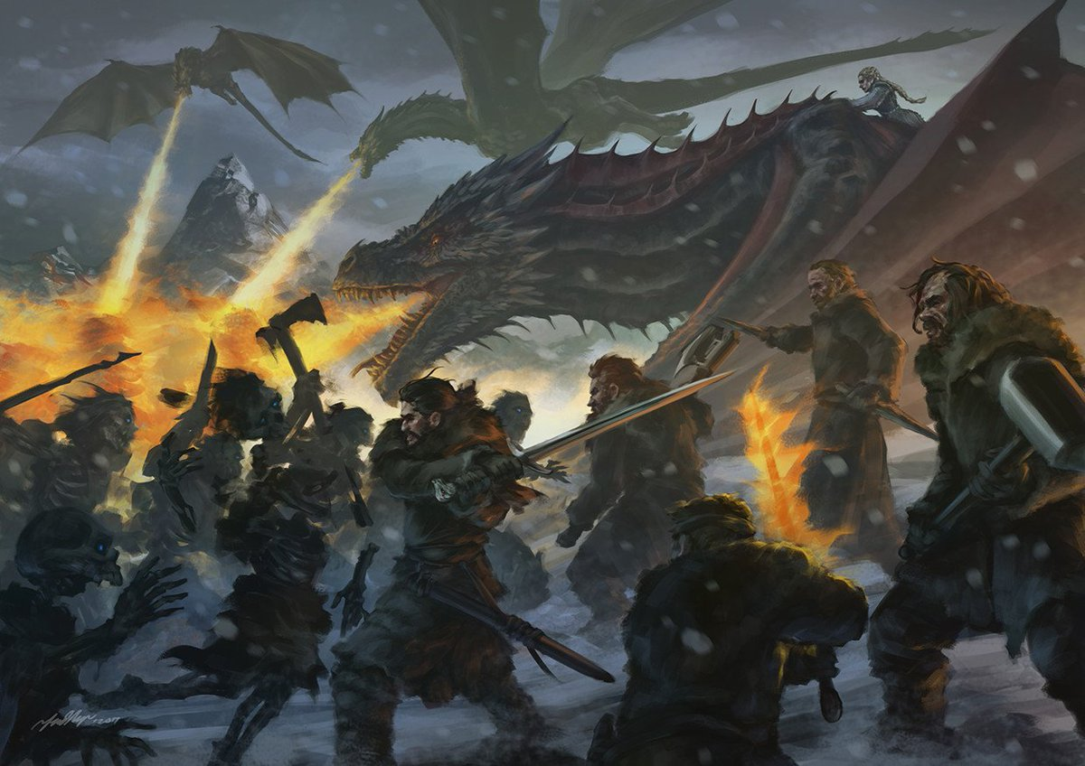 Game Of Thrones Art On Twitter The Battle Beyond Wall By Fadly Romdhani