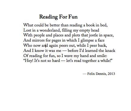 Felix dennis poems