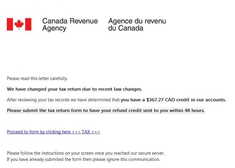 Canada Revenue Agency on Twitter: