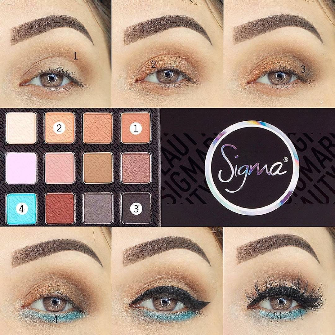 Sigma Beauty On Twitter Step By Step Eye Makeup Pictorial By