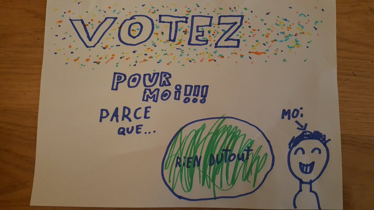Election delegues. Arthur, 8 ans. Inspiration #Presidentielle2017 ? <br>http://pic.twitter.com/4dfY3zoVj4