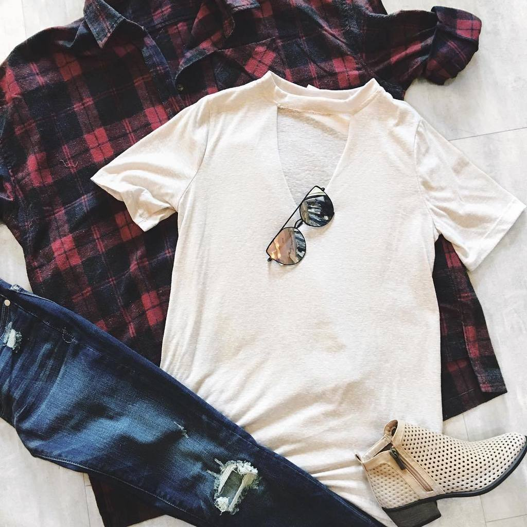 Flannels + distressed denim. We love casual Friday  #fairoutfit #festivalready #flannelfun // shop this look by clicking the link in our b…<br>http://pic.twitter.com/3lMtgl3rGs