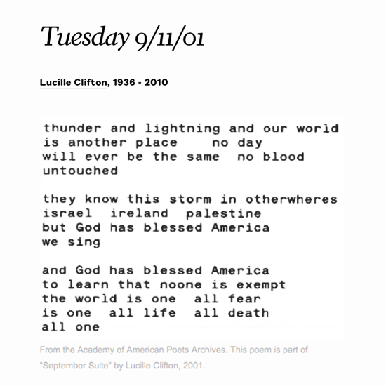 poets org on twitter lucille clifton s poem in response to