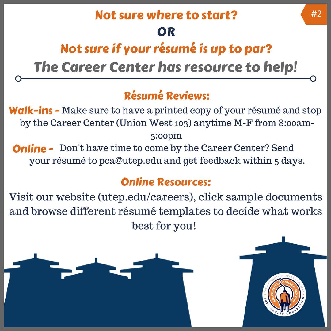 career center resume review utrgv cover letter counseling cover