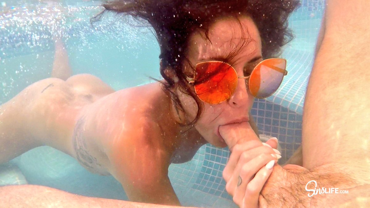 Latina forced blowjobs underwater