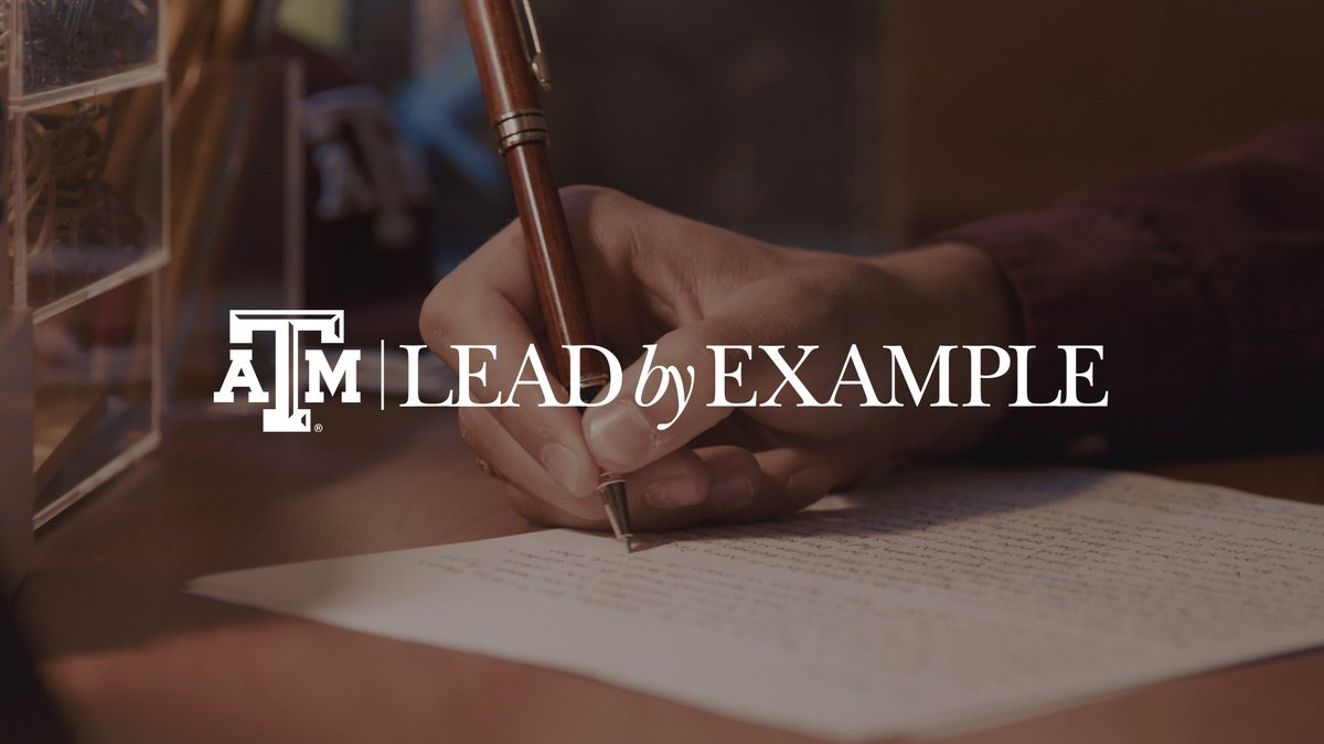 Aggies lead by example because it's the right thing to do. #TAMULeads https://t.co/NLzsvNF8ht