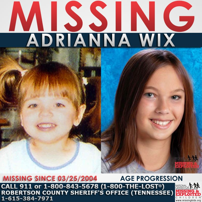 #MISSING! Adrianna has been missing from Cross Plains, #Tennessee since March 25, 2004.  Read more  about her case:  http:// ow.ly/j1KW30eXQiY  &nbsp;  <br>http://pic.twitter.com/LW2XdZ4wDE