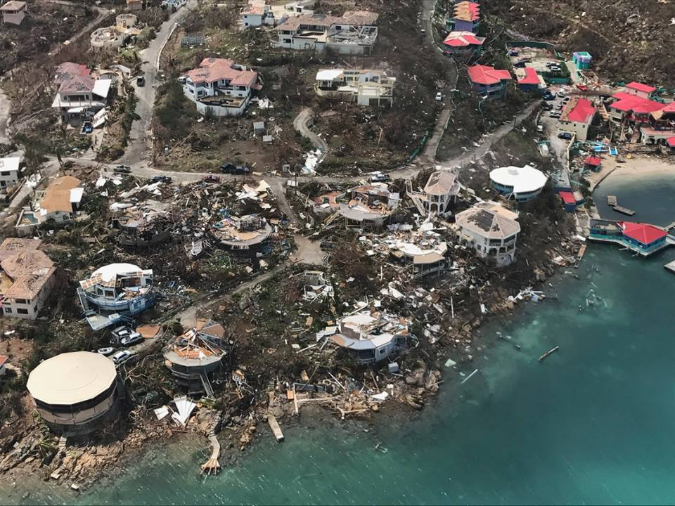 Richard Branson emerges from wine-cellar bunker after Irma 'utterly devastated' his private island