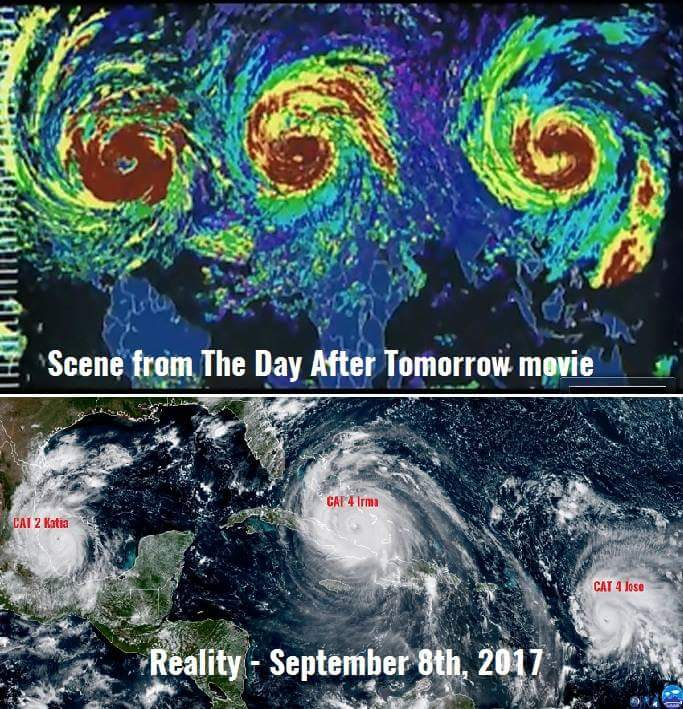 Image result for picture of 3 hurricanes in movie day after tomorrow