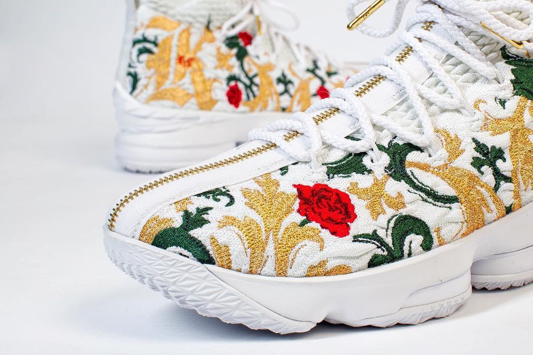The 'Floral' Nike LeBron 15 in detail. 📸: timday087