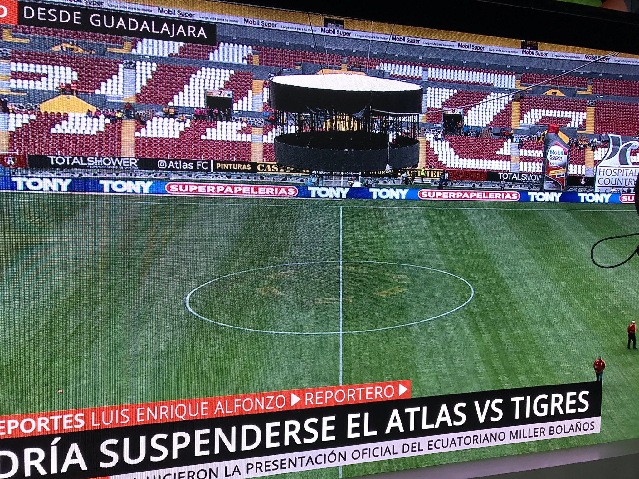 Suspenden Atlas Tigres por una pantalla mal colocada