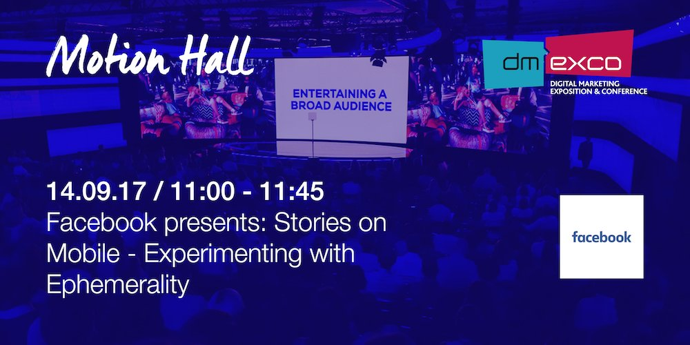 Get to know how @Facebook is experimenting with ephemerality - #dmexco...