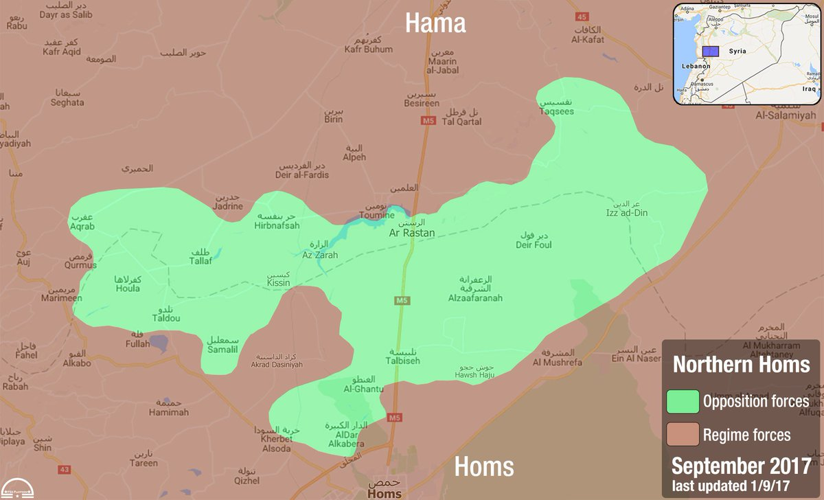 FSA News on Twitter Map Homs Current frontlines between
