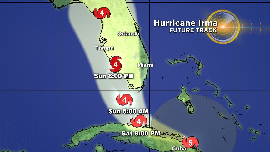 The 11 p.m. NHC track is shifting west.  Is this good news for South Fla? @CraigSetzer is on now with the answer.