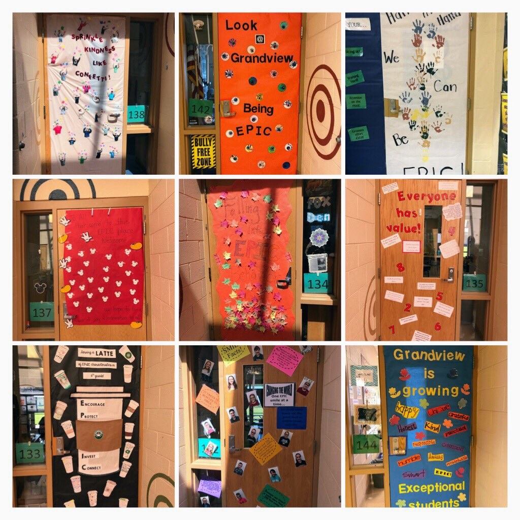 GVES Ts and Ss reading, writing, & showing creativity to display what EPIC really means for our EPIC door decorating contest! #EPICWeek <br>http://pic.twitter.com/UgKHQL6Gpb