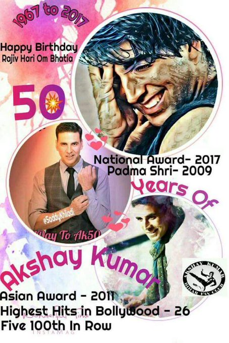 Wish You Very Happy Birthday Akshay Kumar Sir, Khiladi Of Bollywood