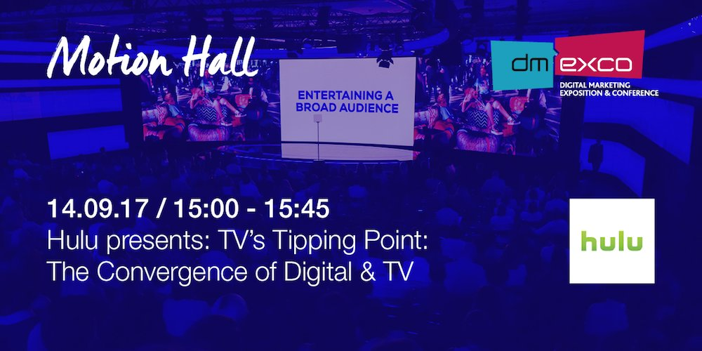 .@hulu presents: TV's Tipping Point: The Convergence of #Digital &...
