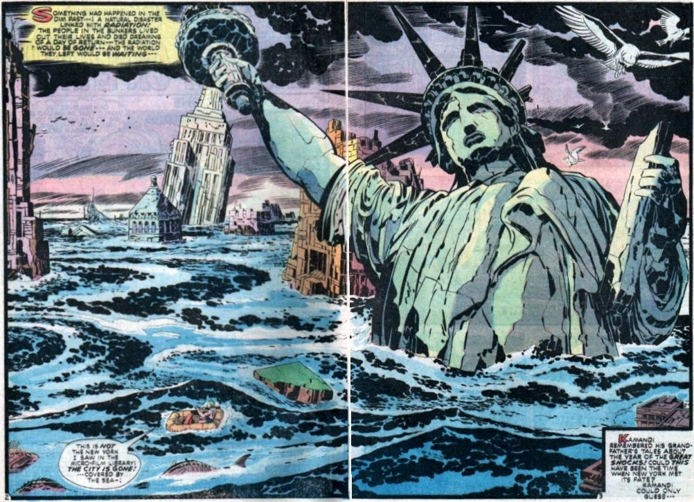 19. I'll just end with the great Jack Kirby riffing on this them, post-Planet of the Apes, in Kamandi https://t.co/Ss7sSsxaMB