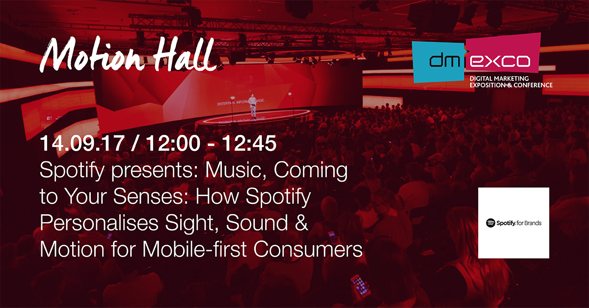 See the screening of @SpotifyBrands at #dmexco #MotionHall, 12 am http...