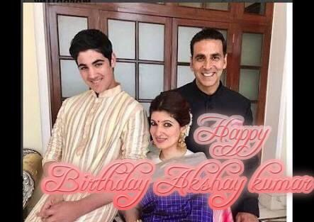 Happy smiling birthday Akshay kumar with family