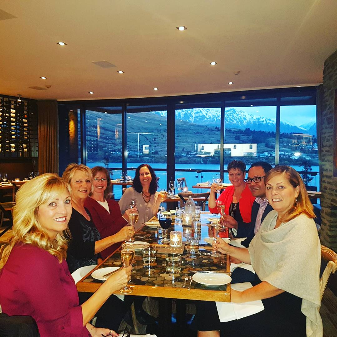 Fabulous 6 course #degustation #dinner at #truesouth dining room at @TheReesHotel with these ladies #queenstown #foddie #nzwines <br>http://pic.twitter.com/KtDD00COJX
