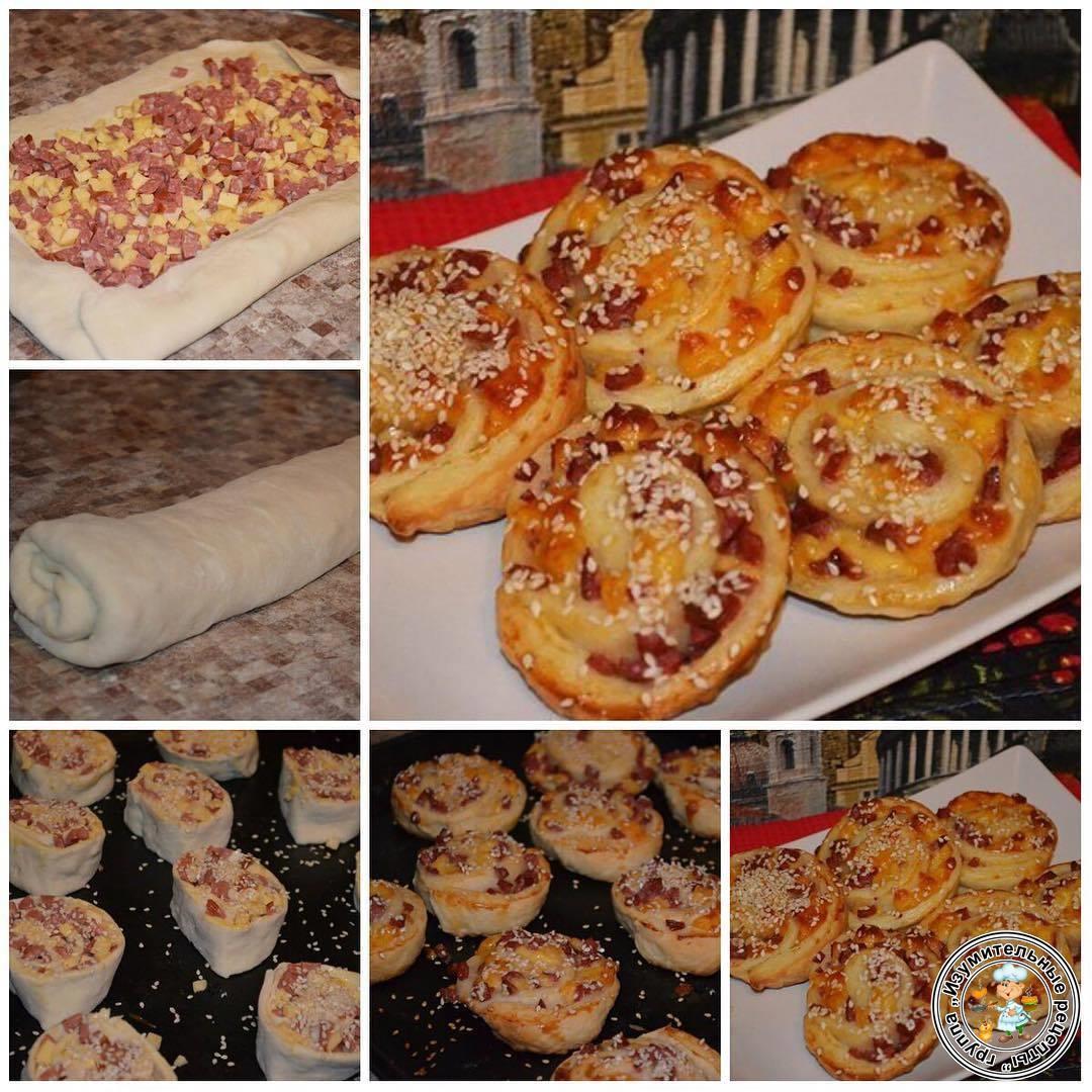 Слоеное тесто бездрожжевое рецепты выпечки с творогом