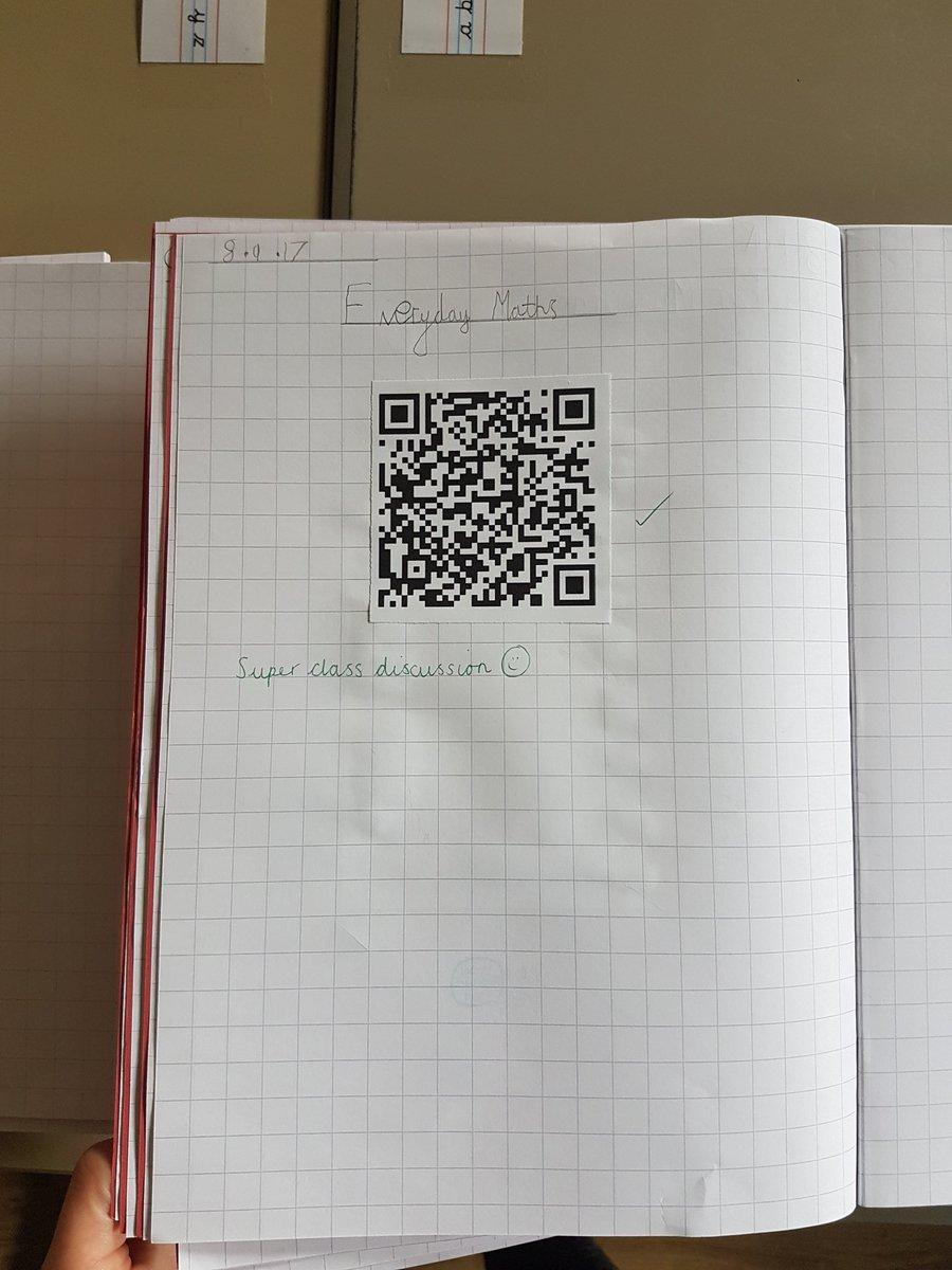 QR codes in books - an alternate way to show evidence of progress ☺