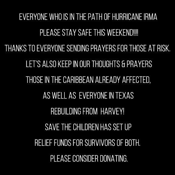 Harvey Relief Fund  - https://t.co/goXsQBjDH5 Irma Relief Fund - https://t.co/40cfVsbYAL https://t.co/Tr6HJnKgRl