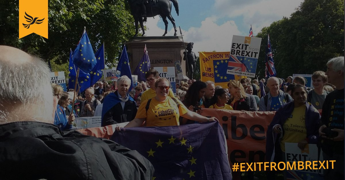 Are you walking the March? Share your photos with us using #exitfrombrexit #libdems #MarchForEurope