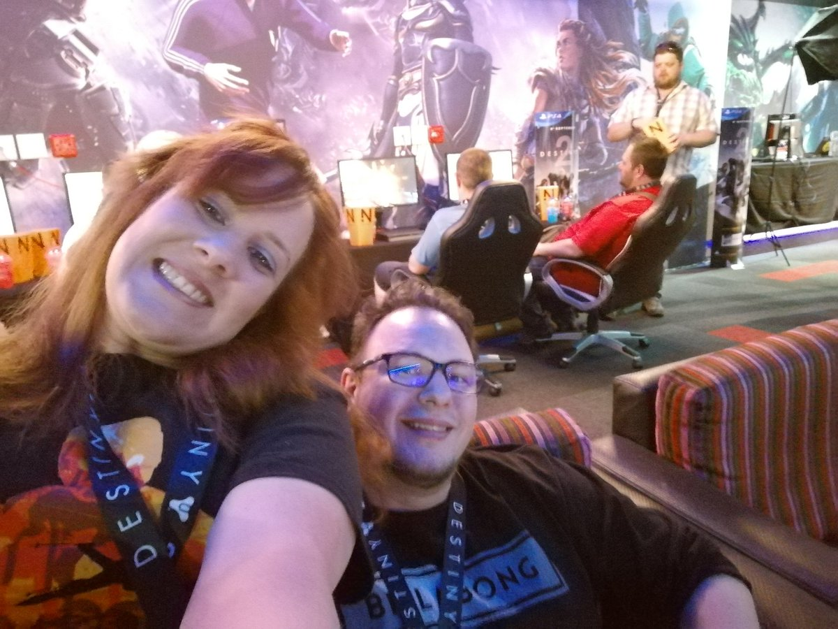 Being a bit silly at the #Destiny2LaunchZA @DarrylLinington @GES_SA