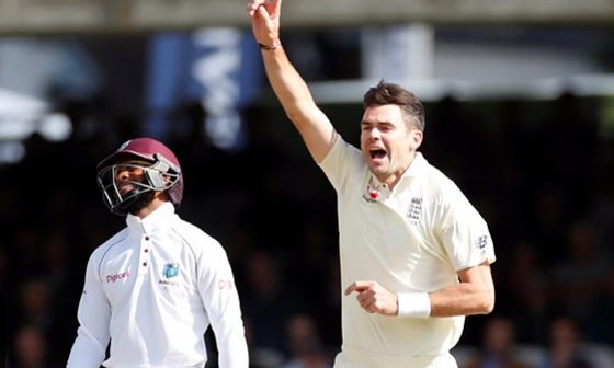 James Anderson's haul sealed a series win for England against West Ind...