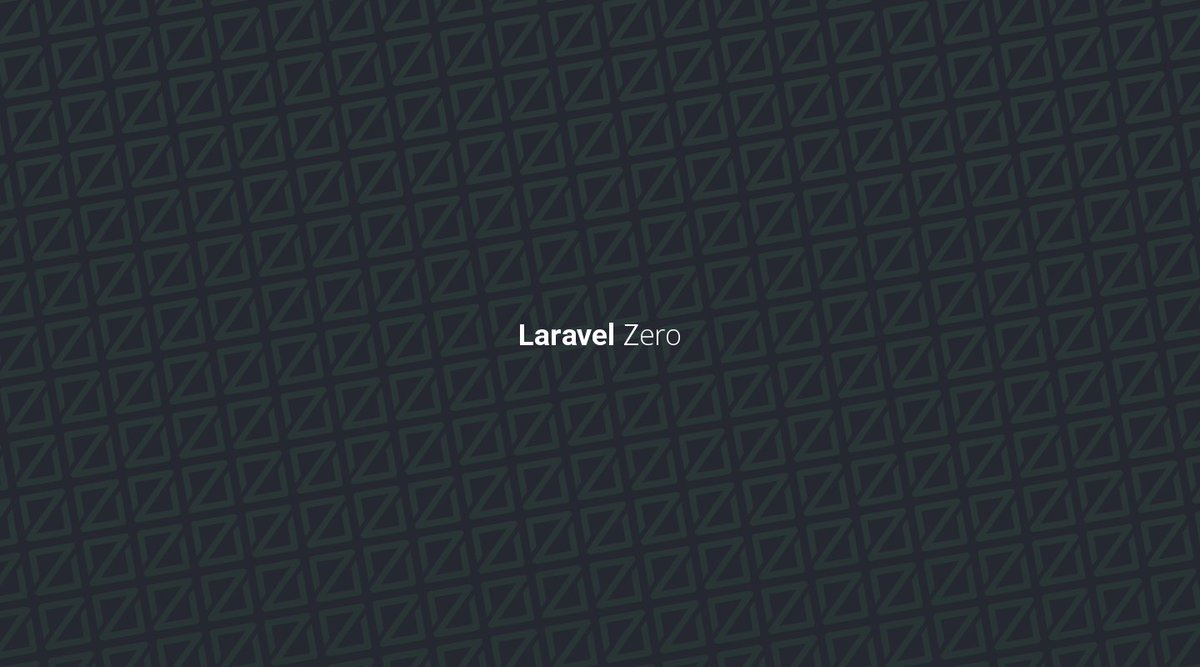 Nuno Maduro On Twitter Laravel Zero Got A New Logo And Wallpapers Tco LklZkS13Kk Php Thanks Caneco For The Contribution