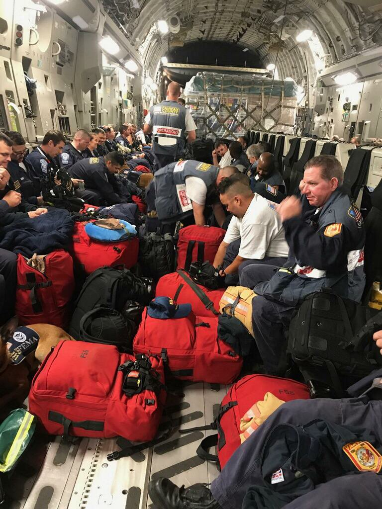 .@VATF1, one of our search & rescue teams, headed down to Puerto Rico yesterday to support #Irma response operations.