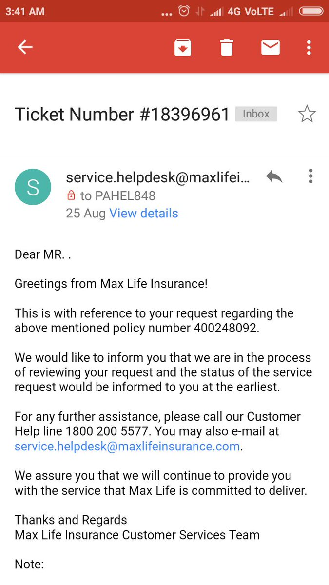 Maxlifeinsurance hashtag on twitter maxlifeinsurance true picture is no follow ups after this mail worst service no customer care nobody should buy their policies picitter kristyandbryce Images