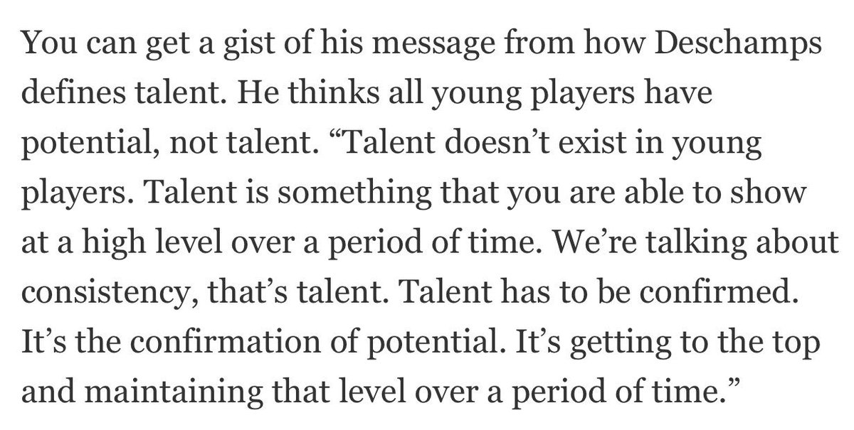 One of the best quotes I&#39;ve read about talent! #Deschamps #talent<br>http://pic.twitter.com/pX6L6sQ17H