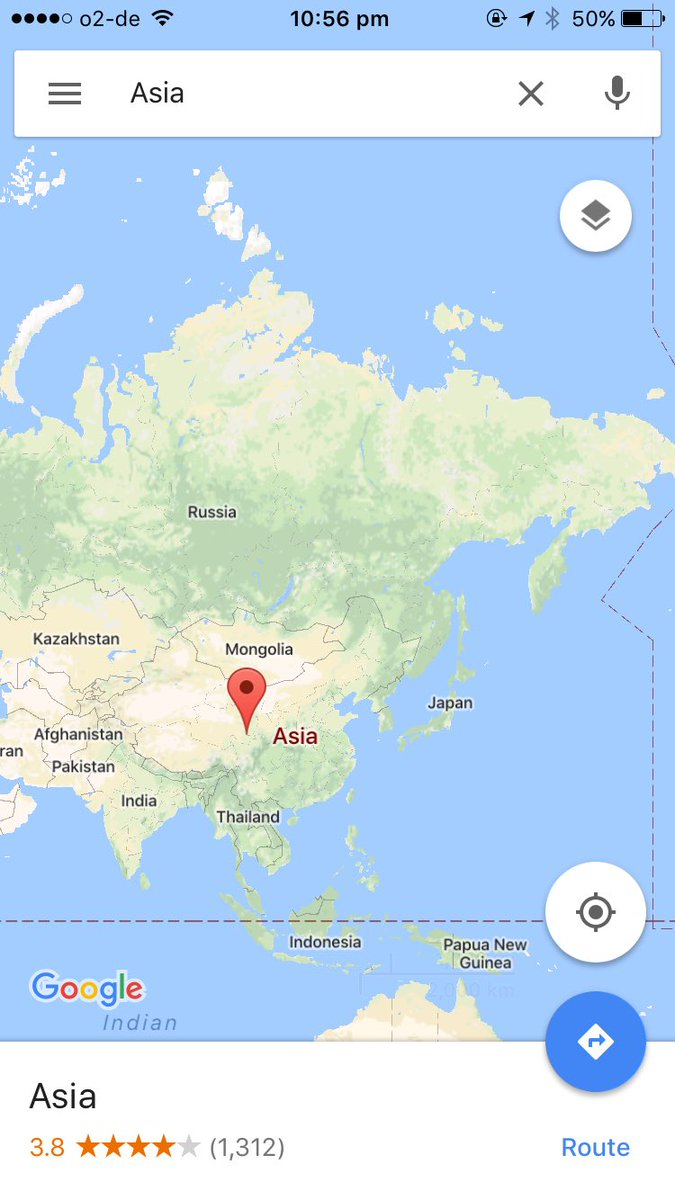 ok who the fuck is rating continents on google maps https://t.co/0p54QbZ3Dq