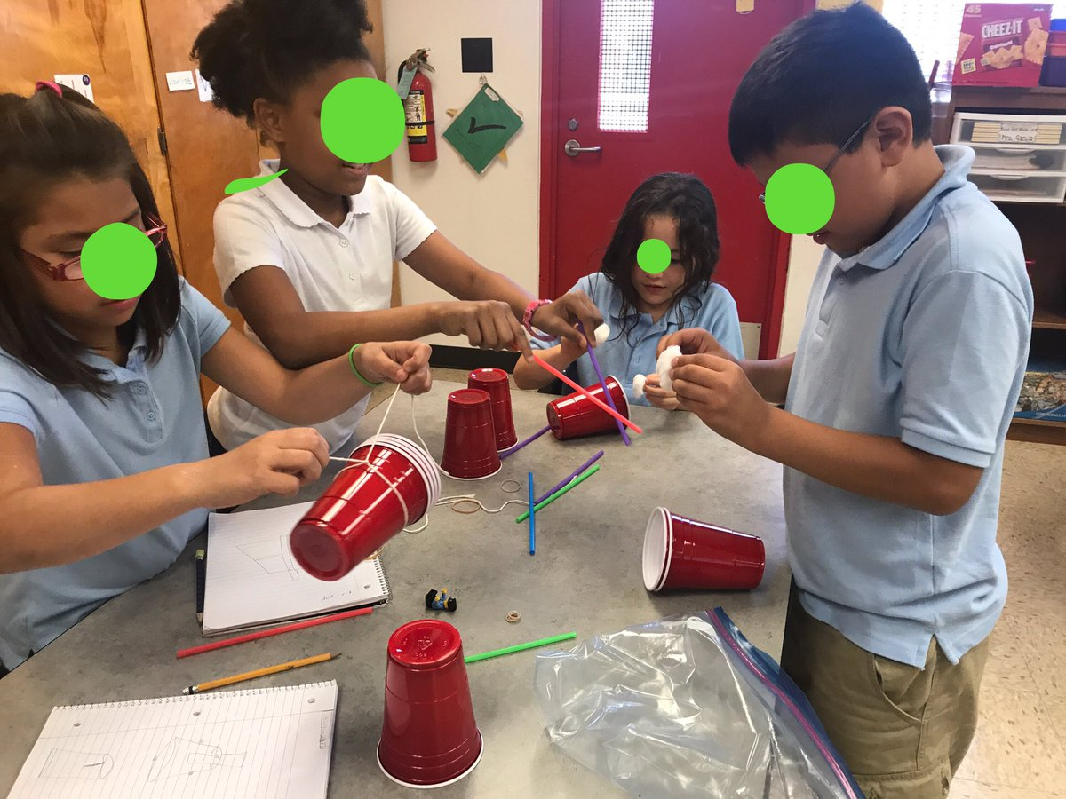 Wooten Elementary On Twitter Ms Garcia S 3rd Grade Class Using Teamwork On This Stem Activity