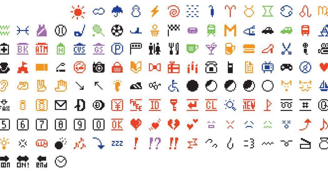 Here are the original 176 emoji, designed by artist Shigetaka Kurita #WorldEmojiDay  https:// wellsbaum.blog/2017/06/16/the -original-176-emoji/ &nbsp; … <br>http://pic.twitter.com/BfceGfpq4a