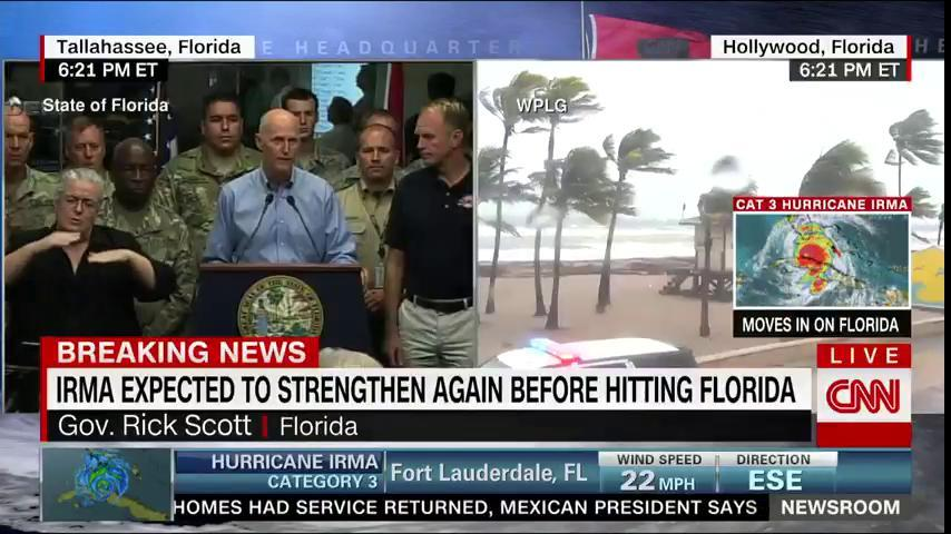 Florida Gov. Rick Scott is now speaking about latest preparations for Hurricane Irma. Watch: https://t.co/uR4EHLX1PZ https://t.co/06eS5ajqVN