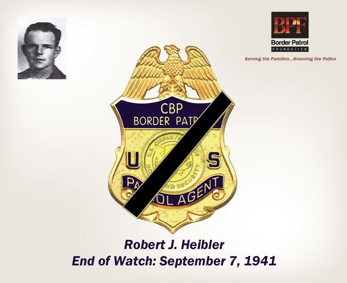 Honoring #USBP Patrol Inspector Heibler on his 76yr #LODD anniversary. We'll #neverforget his #servicetocountry. #HonorFirst<br>http://pic.twitter.com/RczqwyNd5l