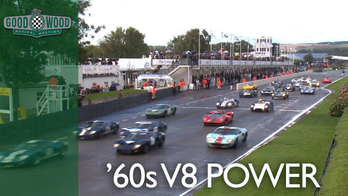 Can-Am cars + GT40s + wet .... you know this is! #GoodwoodRevival https://t.co/1KHGvzZ2gX
