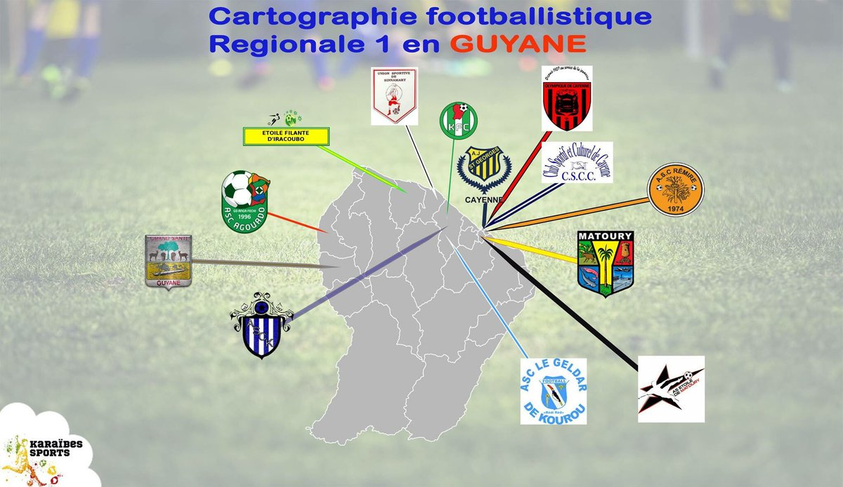 #football #antilles #guyane #guadeloupe #martinique #belocalbeproud #karaibessports #cartographie du football <br>http://pic.twitter.com/SBjqdH1y14