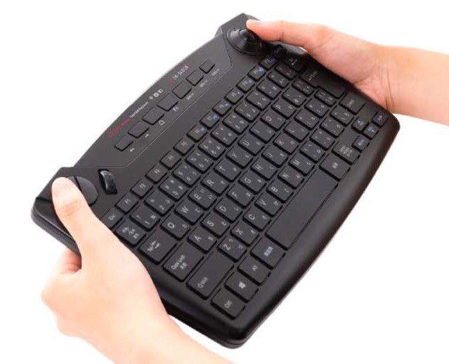 マウスなしでも快適に操作できるナカバヤシのトラックボール内蔵ワイヤレスキーボードが登場
