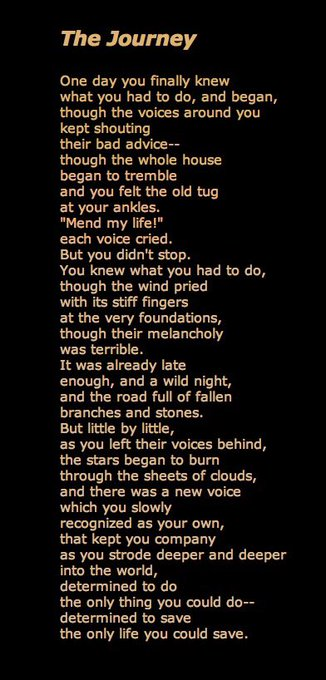Happy birthday Mary Oliver - 82 today! Love her vocational poem below