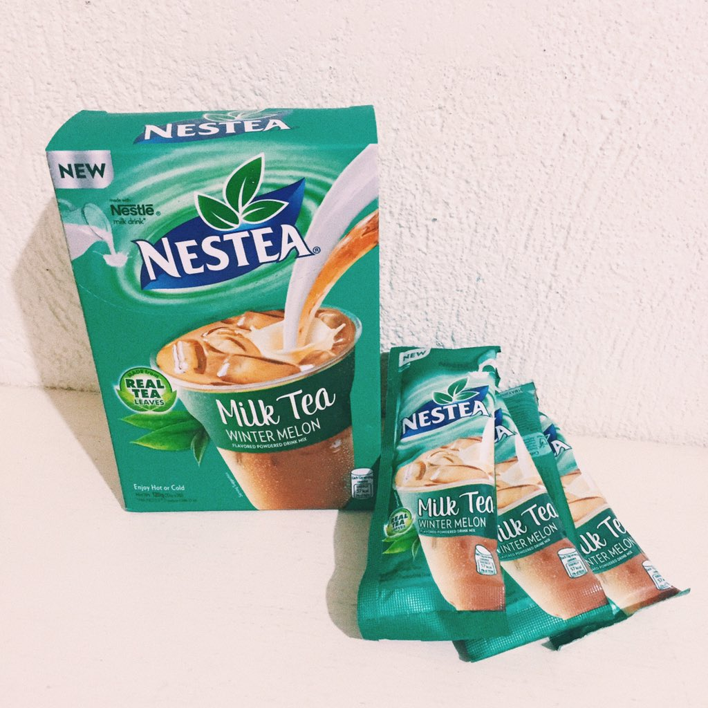 Nestea Milk Tea Wintermelon a perfect refreshing drink 😋 that both kids and adults will love.   a big thumps up   @NesteaPH ❤️ https://t.co/RgxzR1O1iz