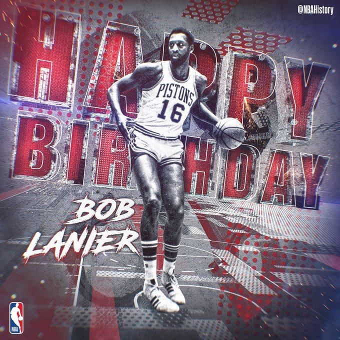 Happy 69th Birthday to 8x All-Star and Hall of Famer, Bob Lanier!