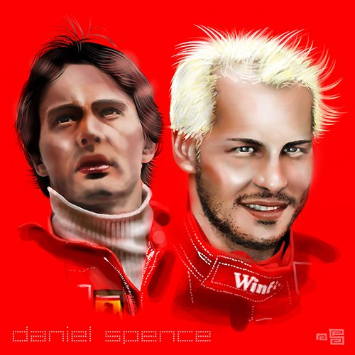 #Gilles and #Jacques #Villeneuve. Part one of a &#39;generations&#39; series celebrating great motorsport dynasties. #generations #danielspenceart<br>http://pic.twitter.com/aGaUOewPCK