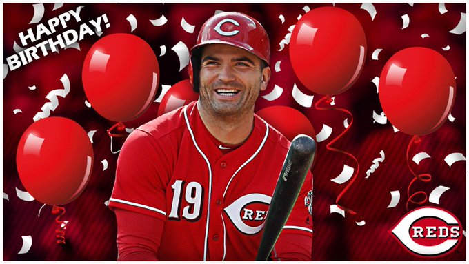 To wish on-base machine Joey Votto a very happy birthday!