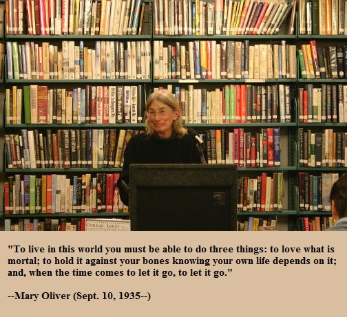 Happy birthday, Mary Oliver!
